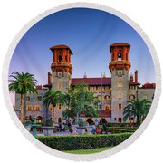 St. Augustine, Fl - Lightner Lights Round Beach Towel