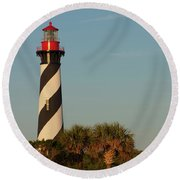 St. Augustine Lighthouse #3 Round Beach Towel
