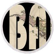 St. Barts 1801 Round Beach Towel