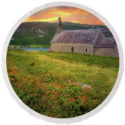 St. Brendan The Navigator Church Of Ireland In Crookhaven Round Beach Towel