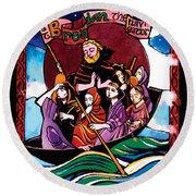 St. Brendan The Navigator - Mmbre Round Beach Towel