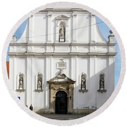 St. Catherine's Church Round Beach Towel by Steven Richman