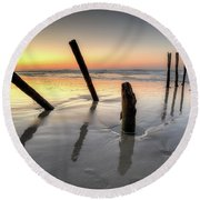 St Clair Sunset Round Beach Towel