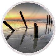 St Clair Sunset Round Beach Towel