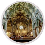 St Dunstan's Cathedral  Round Beach Towel