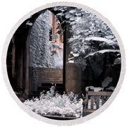 Round Beach Towel featuring the photograph St Dunstan's In The East by Helga Novelli