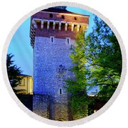 Round Beach Towel featuring the photograph St. Florian's Gate by Fabrizio Troiani