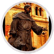Cathedral Basilica Of St. Francis Of Assisi Round Beach Towel by Susanne Still