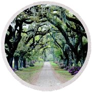 St Francisville Plantation Round Beach Towel