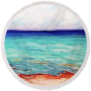 St. George Island Breeze Round Beach Towel by Ecinja Art Works