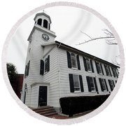 St. Georges Church Episcopal-anglican Round Beach Towel