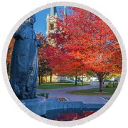 St Ignatius At Gonzaga Round Beach Towel