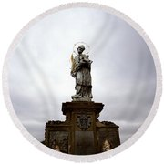 Saint John Of Nepomuk Round Beach Towel