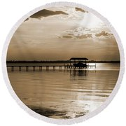 St. Johns River Round Beach Towel