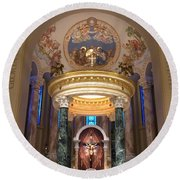 St. Joseph Cathedral-sioux Falls Sd Round Beach Towel