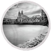 Round Beach Towel featuring the photograph St. Julian's Bay by Okan YILMAZ