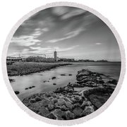 Round Beach Towel featuring the photograph St. Julian's Bay View by Okan YILMAZ