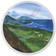 St Kitts View Round Beach Towel by Frank Bright