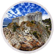 St. Lawrence Fortress Round Beach Towel
