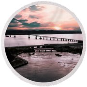 St. Lawrence Sunset Round Beach Towel