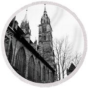 St. Lorenz Cathedral Round Beach Towel