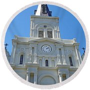 St. Louis Cathedral Study 1 Round Beach Towel