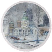 St. Louis Downtown Old Courthouse Round Beach Towel