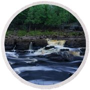 Round Beach Towel featuring the photograph St Louis River by Heidi Hermes