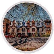 St. Louis Row Houses - Montreal Round Beach Towel