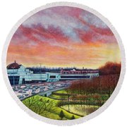 St. Louis Science Center And The Planetarium Round Beach Towel