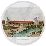 St. Louis World's Fair Palace Of Mines And Metallurgy Round Beach Towel