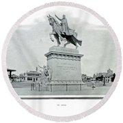 St. Louis World's Fair St.louis Monument Round Beach Towel