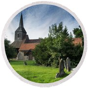 St Margaret Of Antioch Round Beach Towel