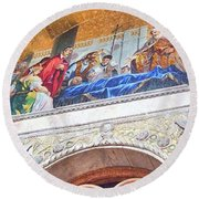 Round Beach Towel featuring the photograph St. Marks Basilica Venice Italy by John Noyes and Janette Boyd