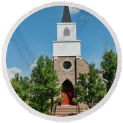 Round Beach Towel featuring the photograph St. Mark's Episcopal Church by Trey Foerster
