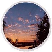 St. Marks National Wildlife Refuge Sunrise Round Beach Towel