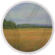 St. Marks Refuge I - Autumn Round Beach Towel