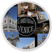 St. Marks Square Venice Round Beach Towel