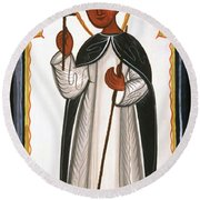 St. Martin Of Porres - Aomap Round Beach Towel