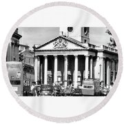 St Martins In The Fields London England Round Beach Towel