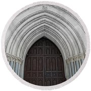St. Mary Cathedral- Austin Texas Round Beach Towel