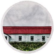St. Mary Church, Babb, Mt Round Beach Towel