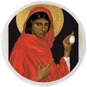 St. Mary Magdalene - Rlmam Round Beach Towel