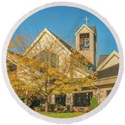 St. Mary Magdalene Round Beach Towel by Trey Foerster