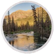 St. Mary River Round Beach Towel