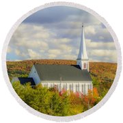 St Mary's Roman Catholic Church Round Beach Towel