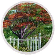 St. Michael's Tree Round Beach Towel