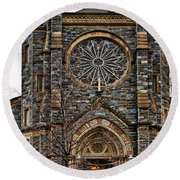 St. Patrick's Church Round Beach Towel