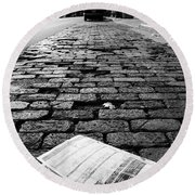 St Paul Street Bw Round Beach Towel