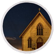 St. Paul's At Night Round Beach Towel